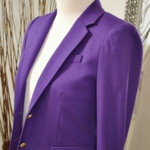 J. Crew Cobalt Purple School Boy Blazer XS